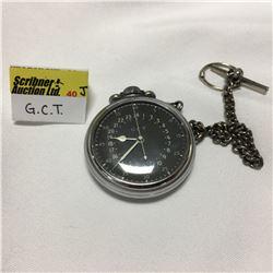 "Pocket Watch ""G.C.T."" 24 Hour"