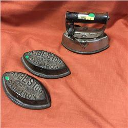 Sad Iron Handle & 3 Inserts