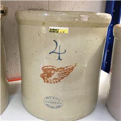 4 Gallon Redwing Crock