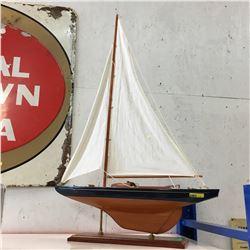 """Sail Boat Decor (35"""" High)"""