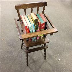 Doll High Chair w/Children's Books