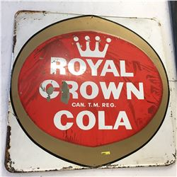 "Royal Crown Cola Tin Sign (35"" x 35"")"