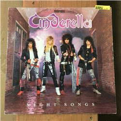 Record Album: Night Songs - Cinderella (Note: Autographed)