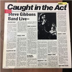 Record Album: Caught In The Act - Steve Gibbons