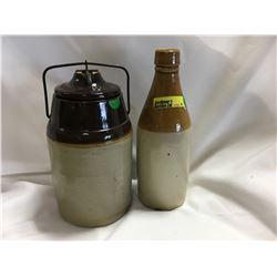 """The Weir"" Pickle Crock & Crock Bottle"