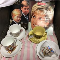 Royalty/Monarchy Collectibles (Books & China Cups/Saucers)