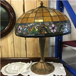 Early Electric Lamp & Shade