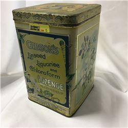 Gibson's Linseed Liquorice & Chloroform Lozenge Tin