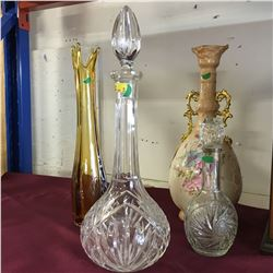 Group of Glass Decanters/Vases (4)