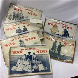 6 Illustrated War News Magazines 1915