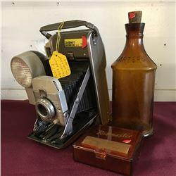 Journalist Starter Pack: Polaroid Camera, Carters Ink Bottle & Rollmaster Cig Roller/Case