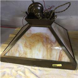 Slag Glass Light Fixture