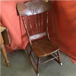 Wooden Rocking Chair (Wheat Pressed Design)