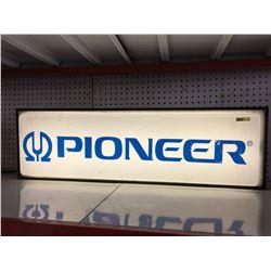 "Light Up ""Pioneer"" Sign (11""H x 36"" W x 4"" D)"