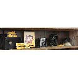 Kodak Camera Collection (5 Cameras, 1 Toy Car, Bottle, Flash, 2 Films)