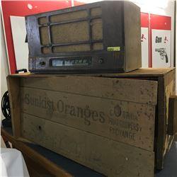Viking Radio w/Sunkist Oranges Wood Crate