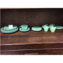 Jadeite Glassware (2 Different Patterns) (25 Pieces)