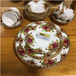 """Royal Albert """"Old Country Rose"""" : 4 Place Setting"""