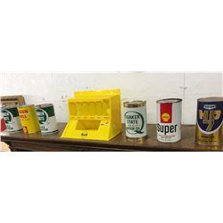 """""""Gulf"""" Store Display w/6 Oil Quarts"""