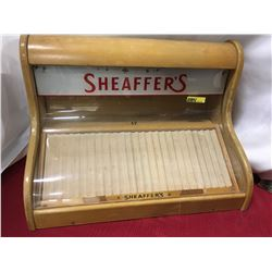 """Counter Top 'Sheaffer's"""" Store Display Case"""