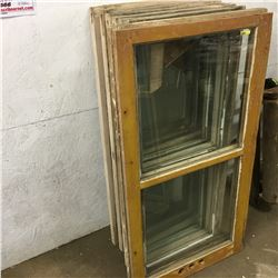 Old Window Frames/Sashes (9 Various)