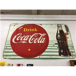 Drink Coca-Cola (Yellow Dot & Bottle) 3' x 5' (Canada 1956)