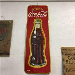 """Drink Coca-Cola (Canada 1951) 53"""" x 17-1/2"""""""