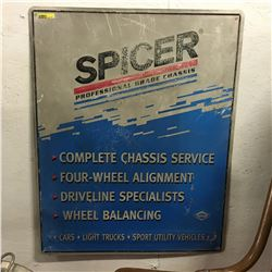 """""""Spicer Professional Chassis"""" Tin Sign 30"""" x 24"""""""