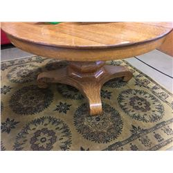"""Round Pedestal Table """"Watertown Table/Slide Co."""""""
