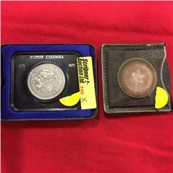 Canada Dollar - BC 1871-1971 & Confederation Medal 1867-1967