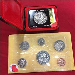 Canada Dollar - Manitoba 1870-1970 & 1970 Proof Set