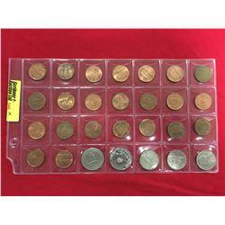 Mixed Canada/US Coins : Sheet of 28