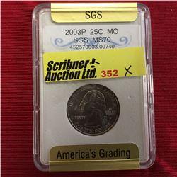 US Twenty Five Cent 2003P