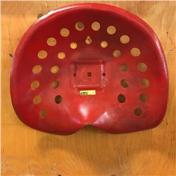 Red Tin Implement Seat