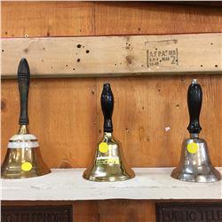 Hand Bells (2 Brass & Nickel Plated)