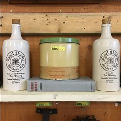 Hudson's Bay Grouping (Companion Coffee Tin, 2 Rye Whiskey Bottles, Arctic Trader Book)