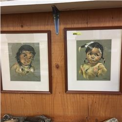 2 Framed Prints: by Oxborough