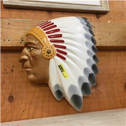 Ceramic Indian Chief Wall Plaque