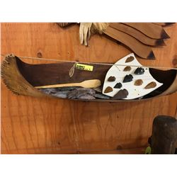 Birch Bark Canoe w/Contents (Must Look!!!)