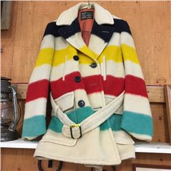 "Hudson's Bay Coat ""This Garment is Made from Genuine Hudson's Bay Point Blankets"""