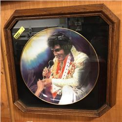 "Elvis Remembered Collector Series Plate ""Loving You"" Framed"