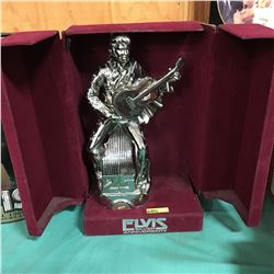 Elvis Silver Anniversary Bourbon Decanter in Velvet Case
