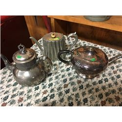 """Silver"" Tea Pot Trio !"