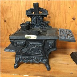 """Crescent"" Mini Cast Iron Stove w/Accessories"