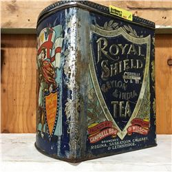 Royal Shield Ceylon & India Tea Tin