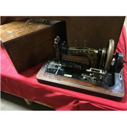 "Hand Crank Table Top Sewing Machine ""Frister & Rossmann"""