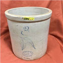 "3 Gallon Union Stoneware ""Leaves"" Crock"