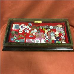 Counter Top Case Display Case w/Pin Collection