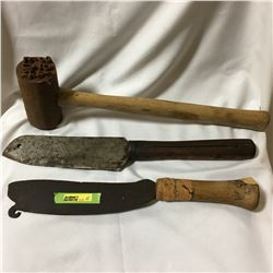 Hewing Knives & Stamping Mallet