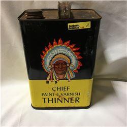 Chief Paint & Varnish Thinner 1 Gallon Tin